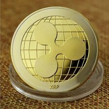 1pc Gold Ripple Commemorative Round Collector Coin XRP Coin is Gold Plated Coin