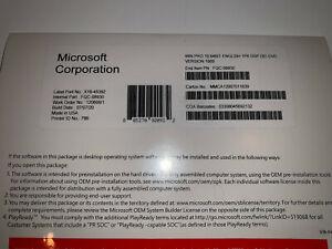 Microsoft Windows 10 Pro Professional 64 bit DVD & License Code Product Key