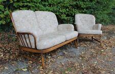 Vintage Ercol Jubilee Sofa Armchair 2 Piece Suite 766 Golden Dawn Clean VGC