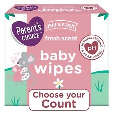 Parents Choice Fresh Scent Baby Wipes, Count 240, 500, 800