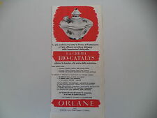 advertising Pubblicità 1962 CREMA BIO-CATALYS ORLANE
