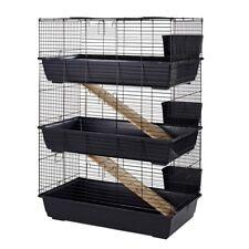 Little Friends Rabbit 100 Triple Tier Indoor Guinea Pig Cage Hutch Blue/Black