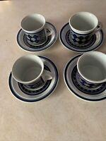 Royal Doulton England Tangier LS 1005 Mug Cup & Saucer 1973 Lot of 4