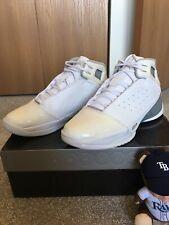 sale retailer 1f59e 8961c Air Jordan Team Strong Premier Pre-owned Size 12.5 White Metallic Silver