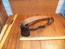 Vintage Cow Bell w Leather Collar