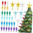 Ceramic Christmas Tree Replacement Light Bulb Set, 140Pcs Multicolor Ceramic