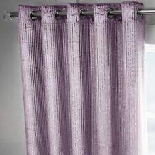 Velvet Sparkle Metallic Glitter Pair of Fully Lined Eyelet Ring Top Curtains