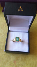 "Genuine/Natural Unisex 22Ct Gold Emerald Ring Size ""J"""