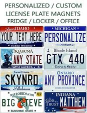 Custom Mini Licence Plate / Hot Wheels / Magnets Any State or Province Any Text