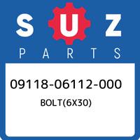 09118-06112-000 Suzuki Bolt(6x30) 0911806112000, New Genuine OEM Part