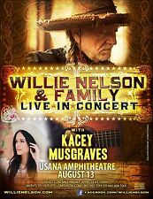 """Willie Nelson & Family """"Live In Concert"""" 2017 Salt Lake City Tour Poster-Country"""