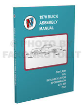 New More Complete 1970 Buick GS and Skylark Factory Assembly Manual 350 455 GSX