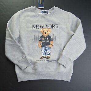 POLO RALPH LAUREN Boys Polo New York Bear Fleece Pullover Sweatshirt NWT