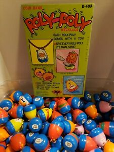Vintage Gumball Roly Poly Necklace Charms Lot of 12 Vending Machine Toys NOS
