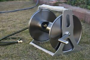 NEW ZORRO Compact Stainless Steel Mountable Hose Reel with 1.8mt Extension Hose