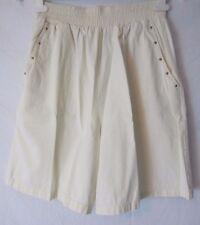 Cotton Ivory Embellished Pull On Shorts  - Women's Large - E165