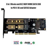 3-in-1-Msata-PCIE-M.2-NGFF-NVME-SATA-SSD-zu-PCI-Express-4X-SATA3-Adapter