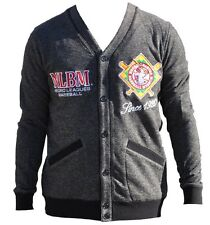 NLBM Mens Cardigan Sweater Charcoal Gray