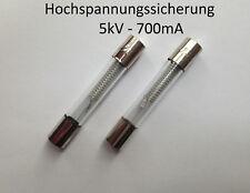 2x Sicherung für Mikrowelle 5kV 0,7A 700mA Hochspannungssicherung HV 5000V Fuse