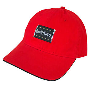 Captain Morgan Patch Men's Red Hat Red
