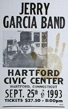 "Jerry Garcia Band Concert Poster - 1993 Civic Center Hartford, CT - 14""x22"""