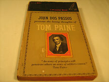 Paperback JOHN DOS PASSOS presents the living thoughts of TOM PAINE 1961 [Y38]