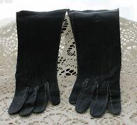 Vintage Made in France Soft Kid Leather Dress Gloves - Black - Size 6-1/4