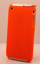 FOR IPHONE 3G  3GS ORANGE PERFORATED HARD BACK CASE COVER /