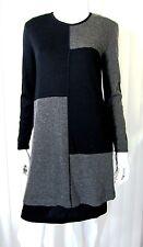 NINA PARTICK BLACK GRAY LONG SLEEVE SWEATER DRESS SIZE S Small Wool