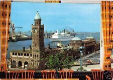 AK, Hamburg, Blick von der Jugendherberge über den Hafen, um 1970
