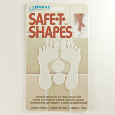 Safe-T-Shapes White Feet Non-Slip Safety Applique Decal Stickers Bath Tub Shower
