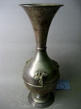 Vintage handmade silver plated vase