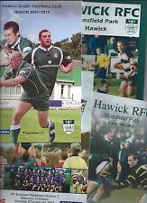 2000-2009 HAWICK v KIRKCALDY, 4 programmes