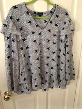 A&G Star Print Blouse, Size 12, BNWOT