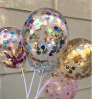 "5""/12"" Colorful Confetti Balloon Birthday Wedding Party Latex Helium Balloons AU"
