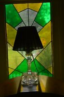 French Art Deco 1930s glass lamp stand-Great design