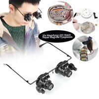 20X Professionell Uhrmacherlupe Juwelier Lupe Brillenlupe Kopflupe Lupenbrille