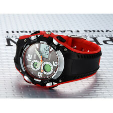OHSEN Mens Date Water Proof Red Digit Light Sport Swim Quartz Wrist Watches Gift