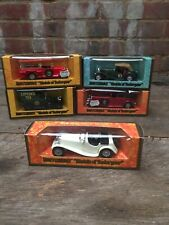 Matchbox Models Of Yesteryear:Y1 SS100/Y4/Y5 Liptons/Y6 Fire/Y8 Woodgrain Boxes