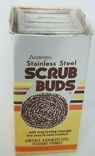 Vintage 1978 Amway Stainless Steel Scrub Buds Scouring Sponges Original Package