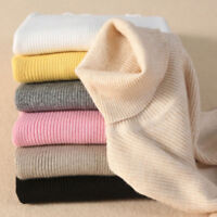 Women Cashmere Sweater Slim Fit Knitted Turtleneck Pullover Warm Jumper 7Colors