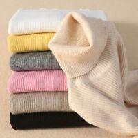 Ladies Cashmere Sweater Autumn Winter Knitted Turtleneck Pullover Warm Jumper .