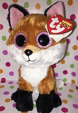 "6"" Ty Beanie Boo Reg Size Slick the Fox"