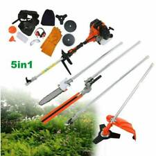 52Cc Gas Hedge Trimmer 5 in 1 Chainsaw Petrol Brush Cutter Multifunctional New.