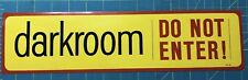 Vintage Darkroom Do Not Enter Warning Sticker Unused Nos Decal