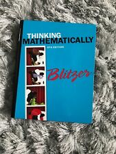 Thinking Mathematically by Robert F. Blitzer (2014, Hardcover, 6th Edition)