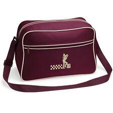 Ska Man Retro Shoulder Bag With Embroidered Fist Logo. Mod. Ska. Two Tone