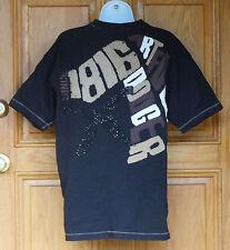 Artful Dodger Mens Size S Black S/S Embellished T Shirt
