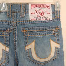 True Religion Joey Super T 34x32 Denim Jeans Thick Stitching Measure 34x29