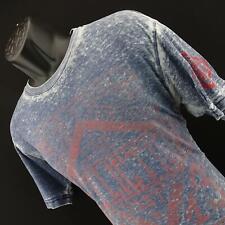 Mens Affliction Short Sleeve American Custom Motor Club Graphic Shirt Size XL